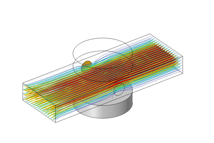 COMSOL 中 MHD 多物理场仿真结果的图像。