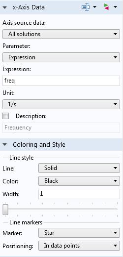 倍频带绘图类型的设置窗口的屏幕截图。