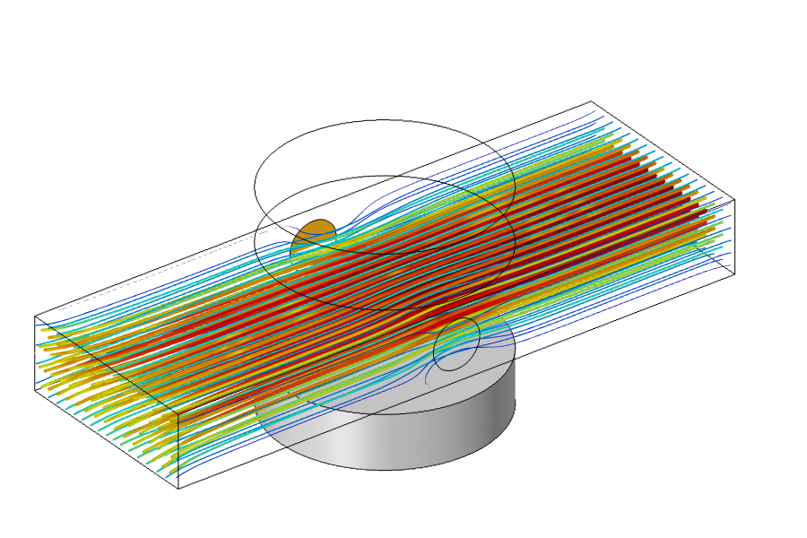 显示简化 MHD 模型仿真结果的图像。