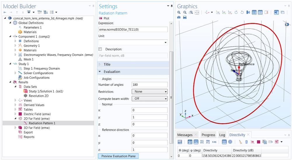 用于定义辐射图平面的函数参数的屏幕截图。