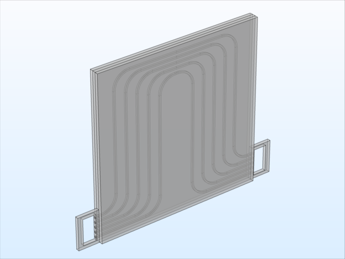 电池组单元电池的模型几何。