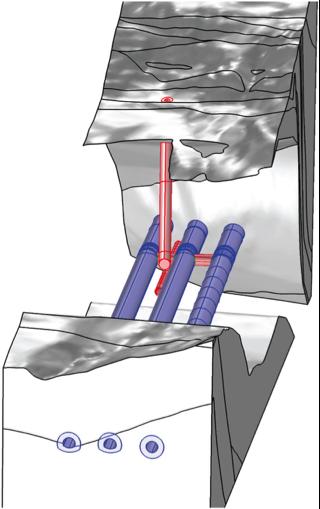 突出显示了受扰动区域的局部模型图形