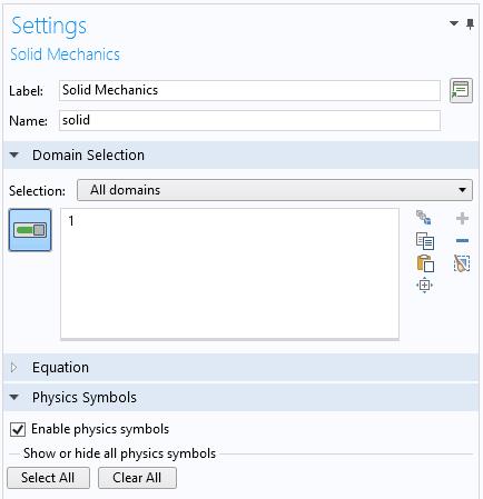 设置窗口的屏幕快照,显示了如何启用物理符号。