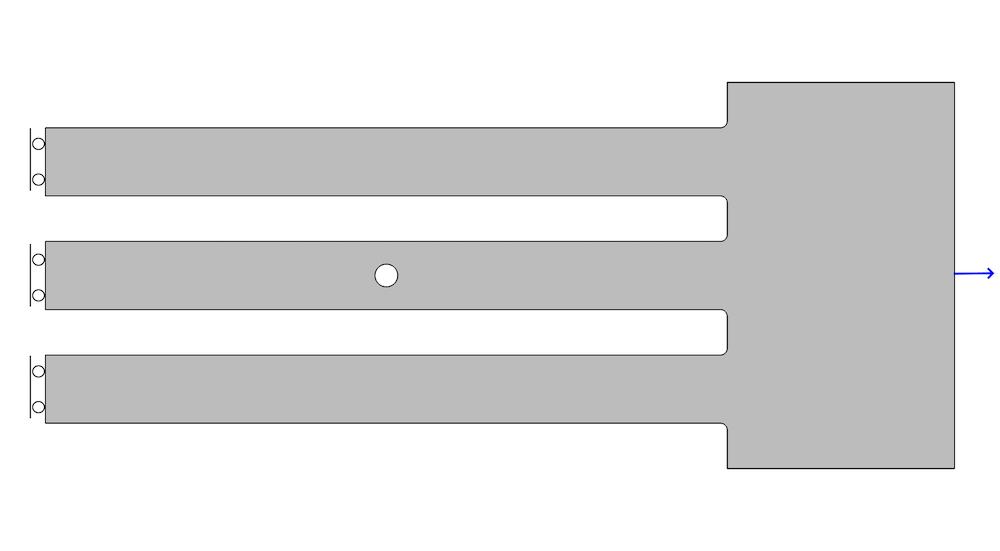 位移控制问题的几何图形和边界条件的图像