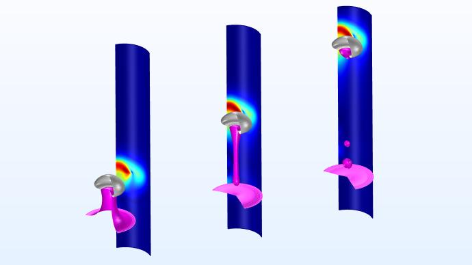 "COMSOL""V&V 模型""页面中提供的流体流动模型视图。"