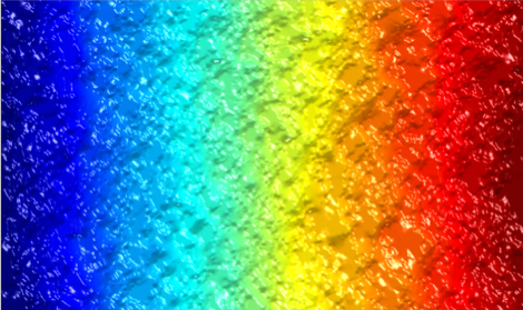 An image showing the range of gas concentration in a porous material sample with low gas diffusivity.