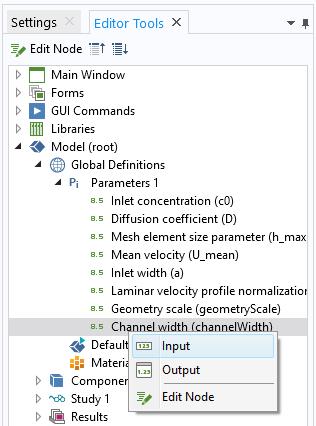 """打开编辑器工具,其中显示了如何将""""通道宽度""""参数添加到表单。"""