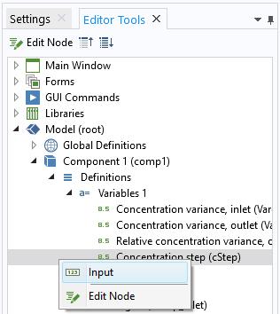 """将打开""""编辑器工具"""",其中显示了如何将""""浓度阶跃""""变量表达式添加到表单"""