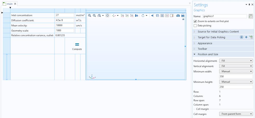 具有初始应用程序布局的表单编辑器演示了表单对象的拖放功能