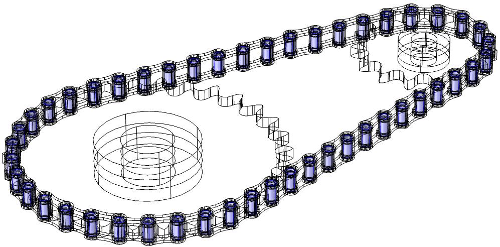 该图显示了在模型中选择的用于创建附件节点的针板边界。