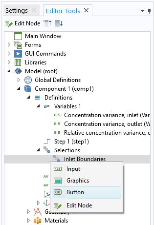 """选项已扩展的""""编辑器工具""""窗口添加了一个用于选择入口边界的按钮。"""