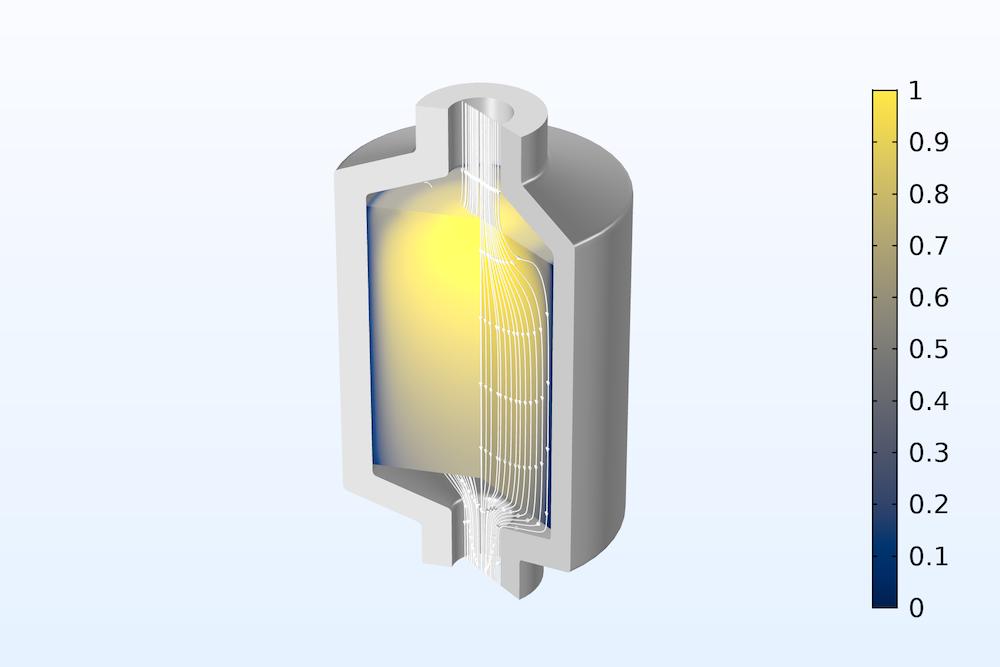 填充床潜热存储单元的模型,该模型在结果中包括相变效应和局部热不平衡