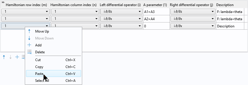A screenshot showing how to paste two copied rows into a table.