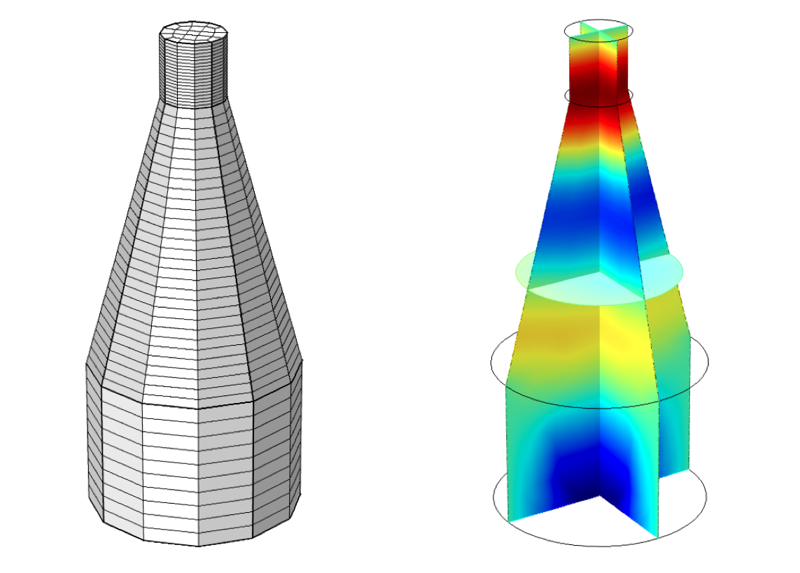Analyzing an acoustic microphone chamber with modeling software.