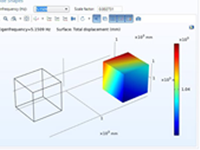A parametric simulation app used to analyze an engine mount automotive component.
