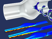 A simulation of a heart valve.