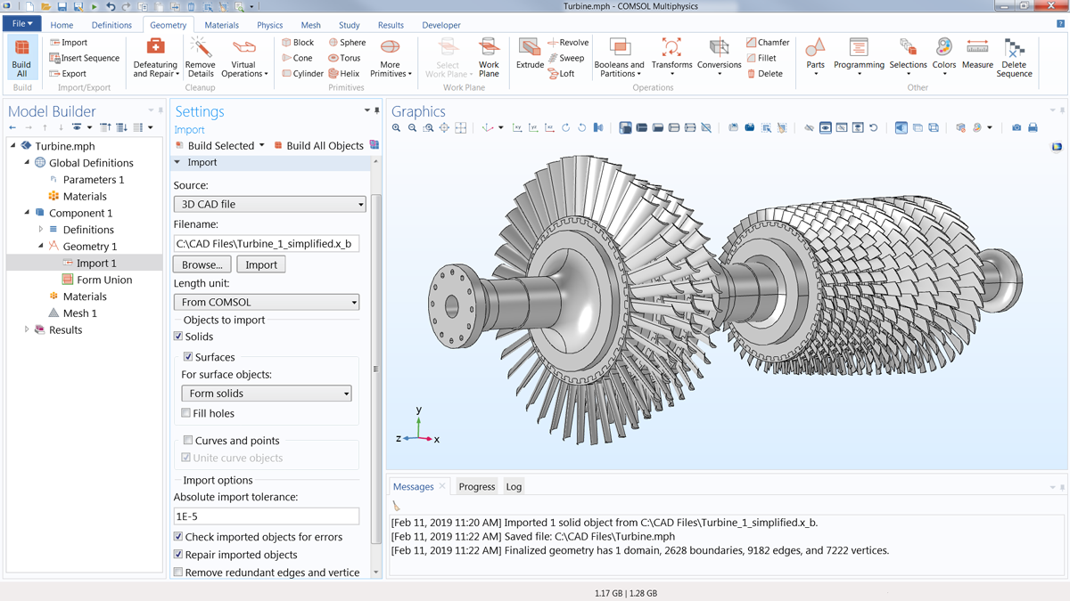 CAD Import Module - Import CAD Files into the COMSOL® Software