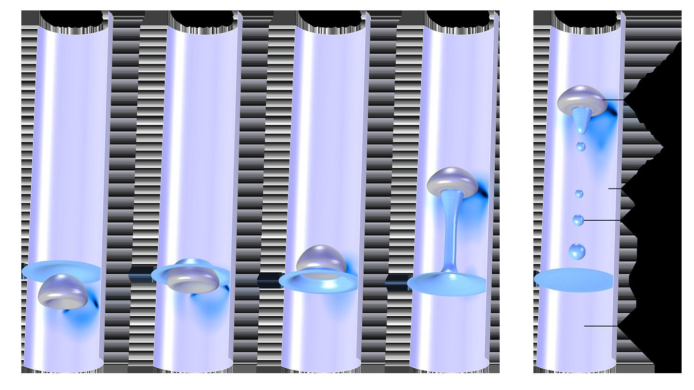 Пример моделирования трехфазной системы с помощью программного пакета COMSOL Multiphysics и модуля Вычислительная гидродинамика.