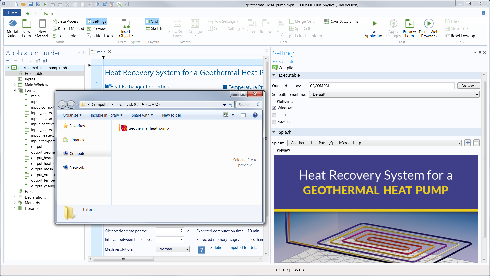 Create Standalone Applications with COMSOL Compiler™