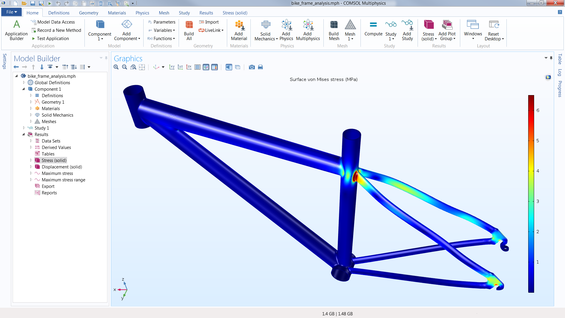 Comsol Multiphysics Software Understand Predict And Optimize Basic Engineering Circuit Analysis Mesh Electronic A Bike Frame Cad Design Simulated With