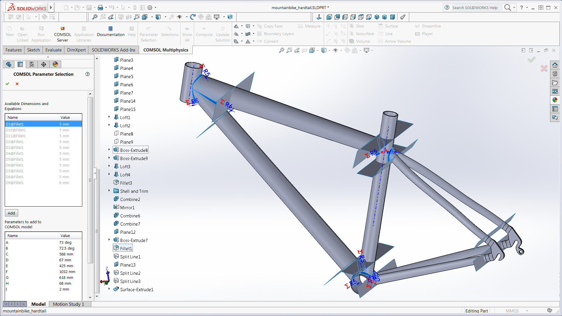 Comsol Multiphysics Software Understand Predict And Optimize Series Circuit 3d Animated Model Parallel The Cad Design Of A Bike Frame In Solidworks
