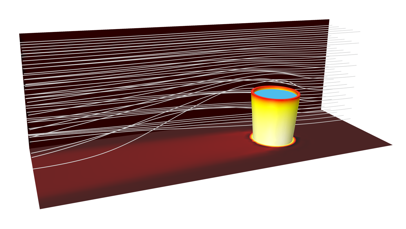 ein beispiel fr die modellierung der verdunstungskhlung mit dem heat transfer module - Warmeleitung Beispiele