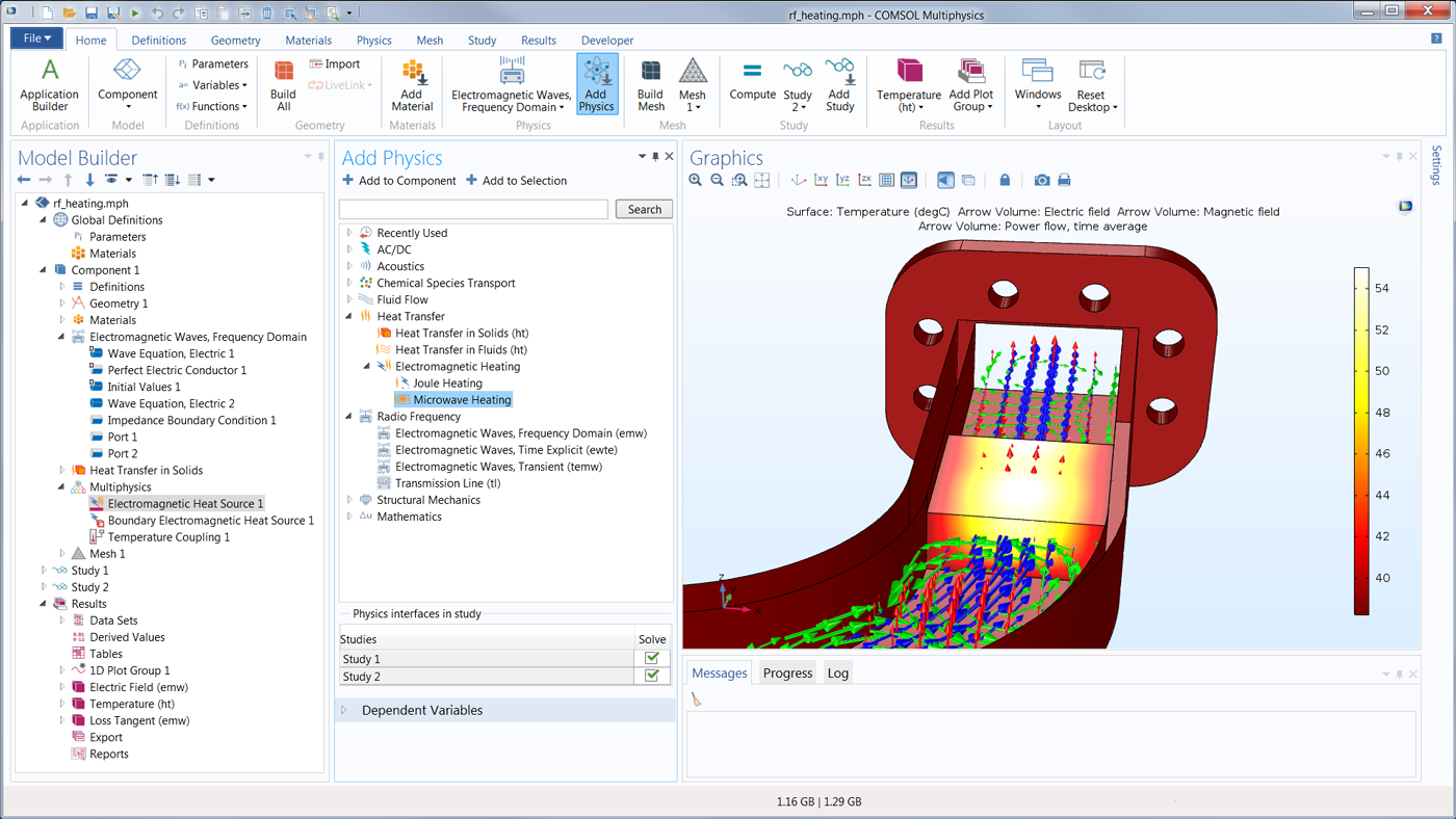 Modeling Software For Rf Microwave And Millimeter Wave Designs Ac Circuit With Dependent Voltage Current Sources Physics Forums The Comsol Gui Showing Predefined Interfaces Available Module
