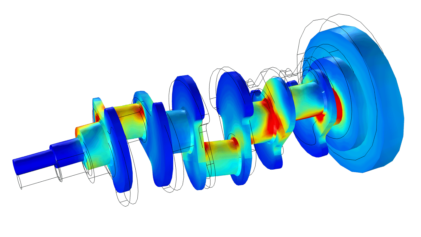 Fea Software For Performing Structural Analyses Engine Crankshaft Diagram A Rotordynamics Model Of Reciprocating