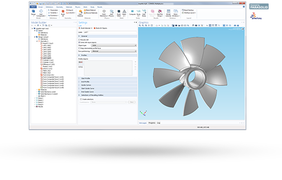 CAD Design Import and Creation Tool From COMSOL