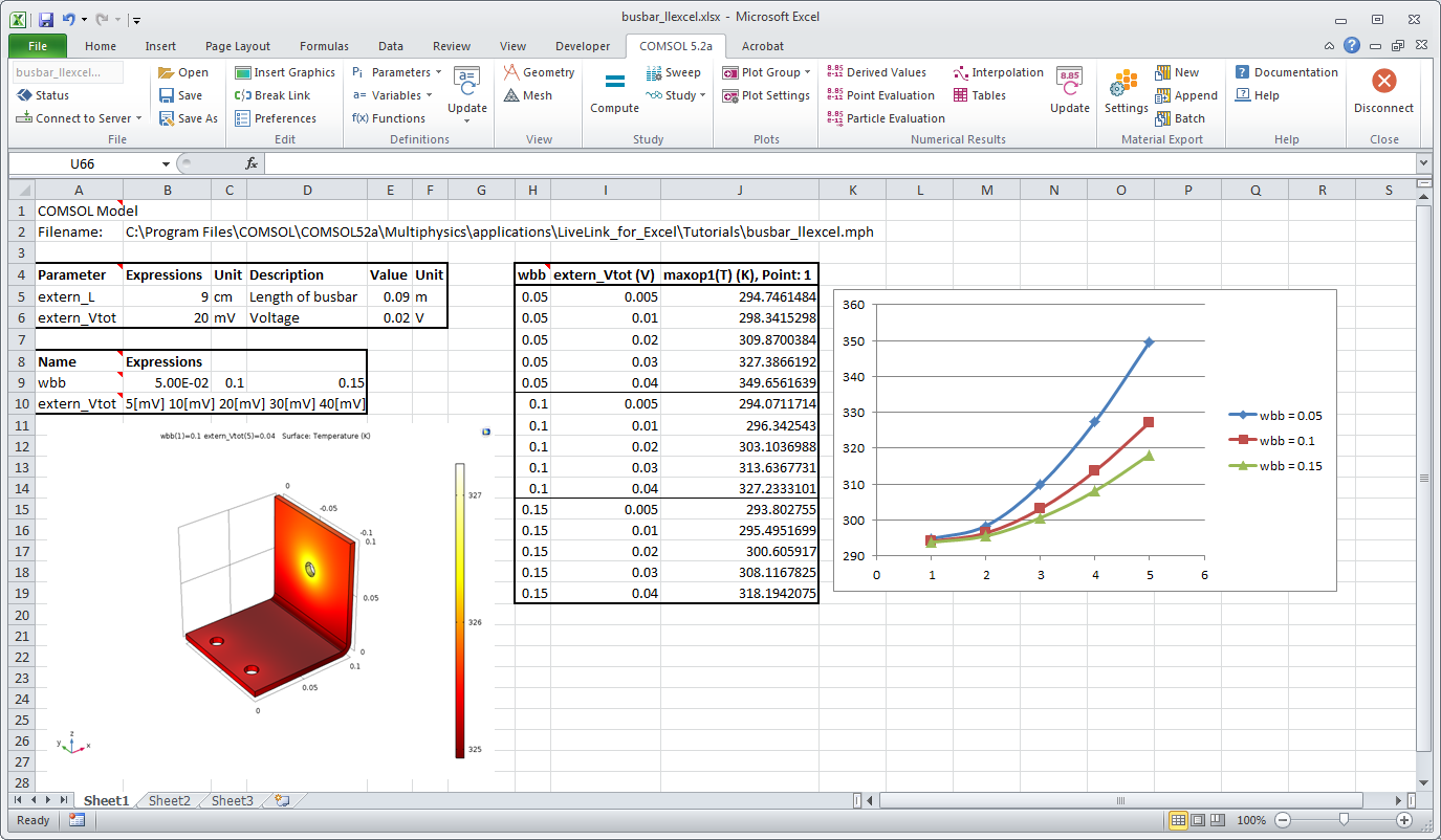 utilize excel® in your comsol multiphysics® models