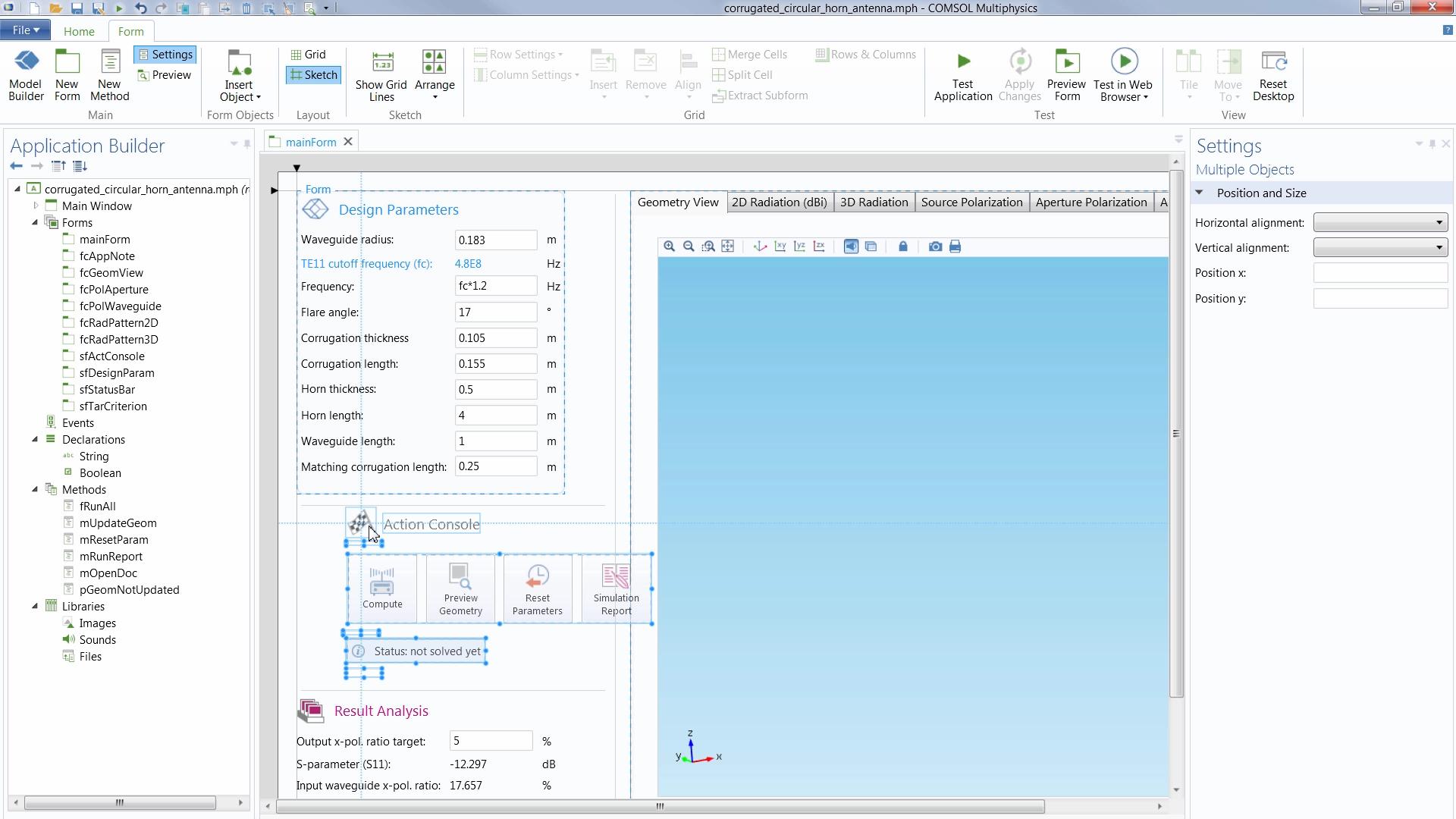 Application Builder - COMSOL Multiphysics 5.1