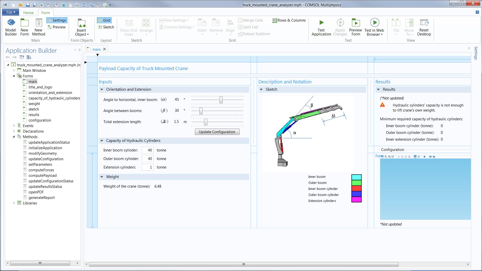 Application Builder - COMSOL Multiphysics 5 1