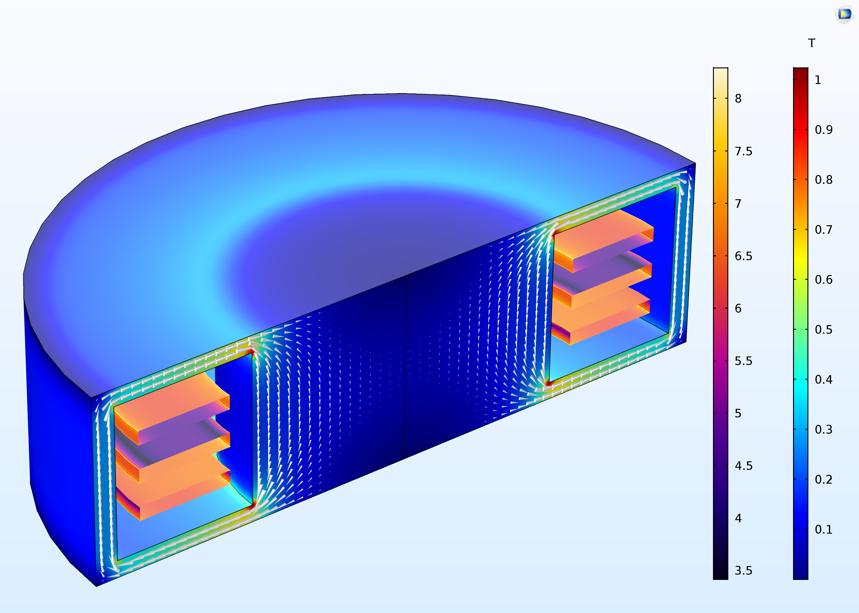 The Axisymmetric Approximation of a 3D Inductor tutorial, new with COMSOL Multiphysics version 5.3.