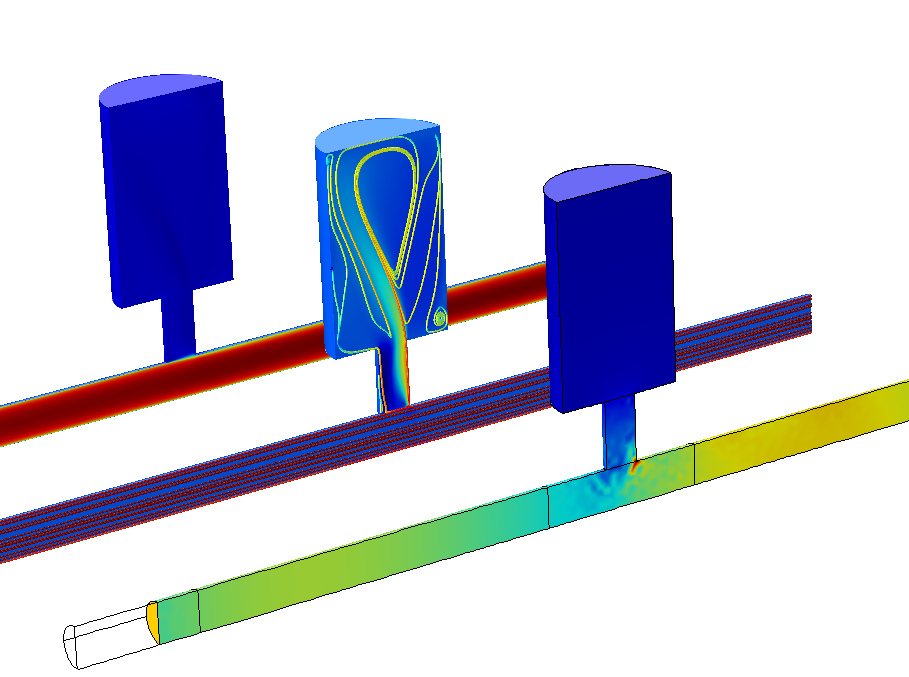 A Helmholtz resonator model featuring the interaction of flow and acoustics.