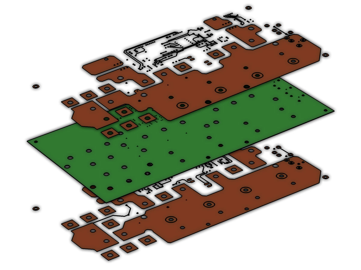 The geometry of a printed circuit board, courtesy of Hypertherm, Inc.