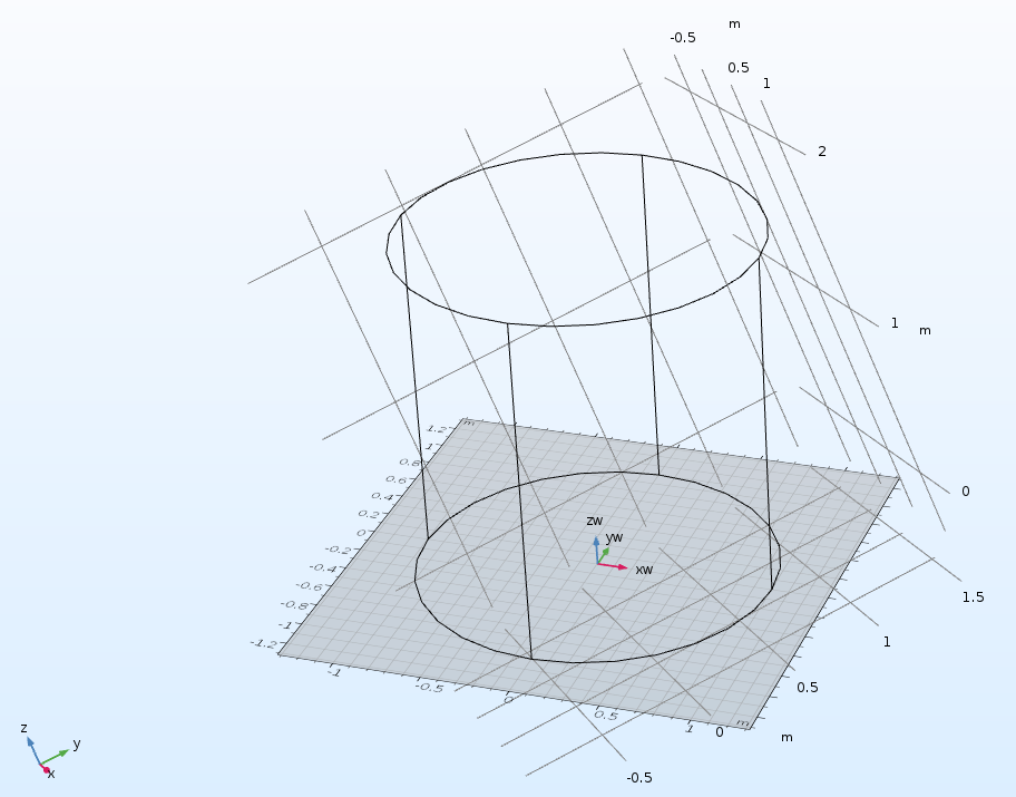 An example of using coordinate systems defined by geometry orientations in COMSOL Multiphysics.