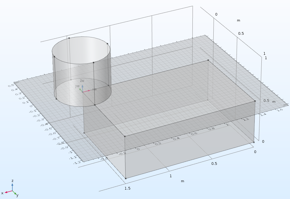 An example of the geometry improvements in COMSOL Multiphysics version 5.3.