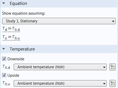 A screenshot showing the External Temperature settings in the Heat Transfer Module.