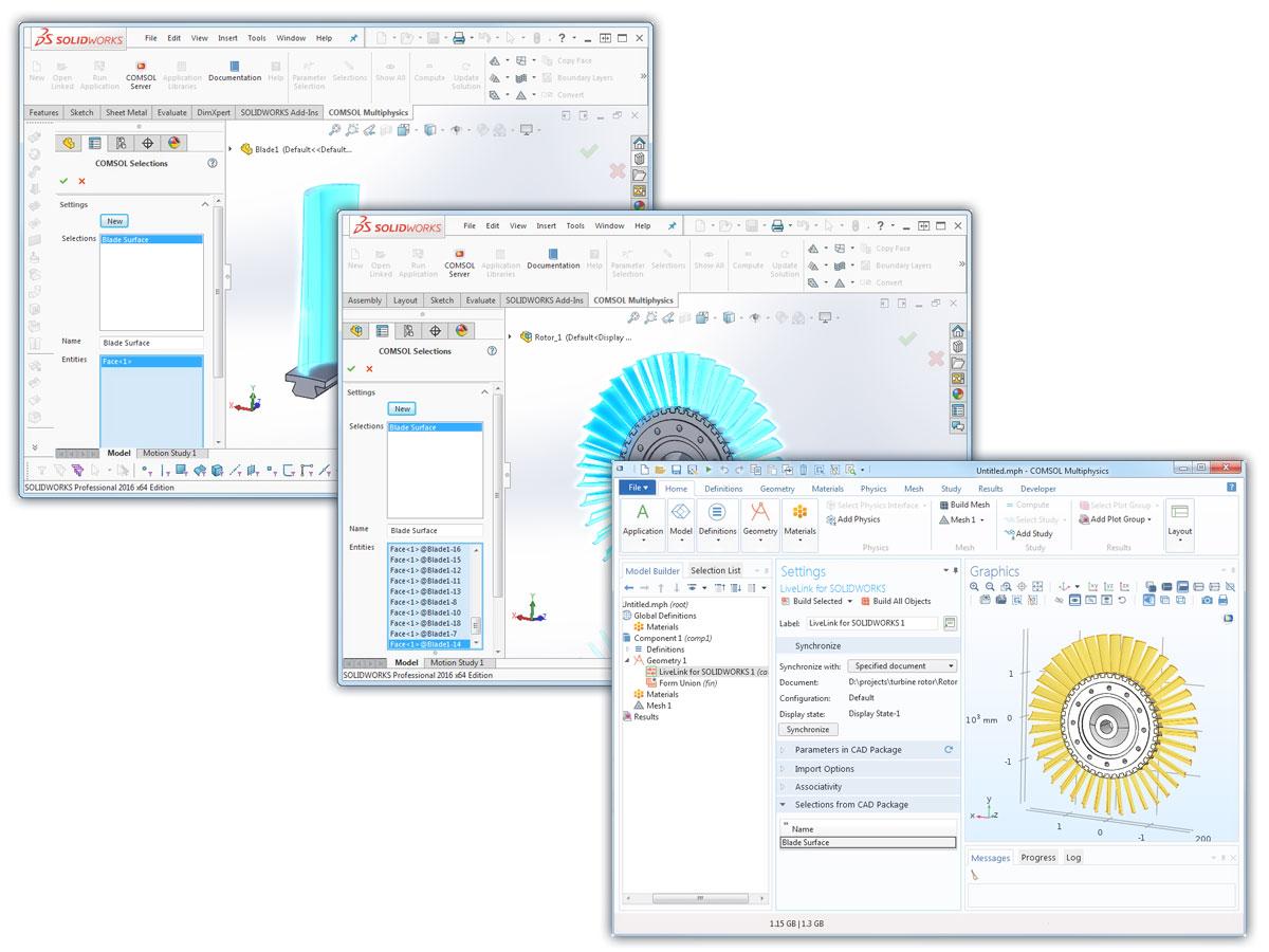 LiveLink™ for SOLIDWORKS® Updates - COMSOL® 5 3 Release