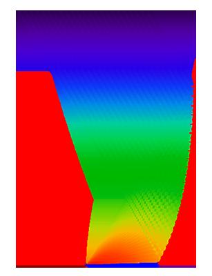 """顯示""""複合拋物面聚光器""""幾何零件的示例。"""