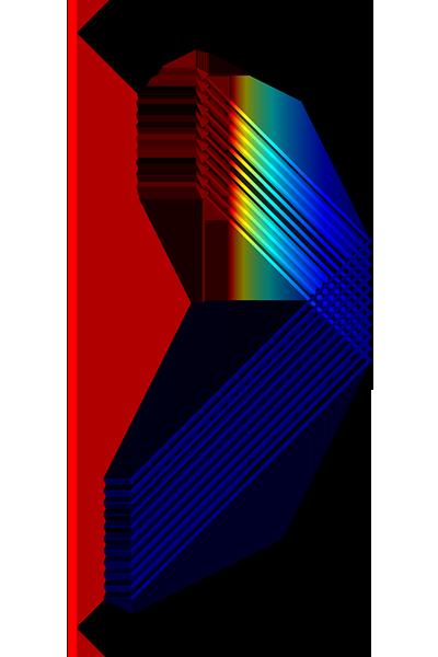二維軸對稱幾何的示例。