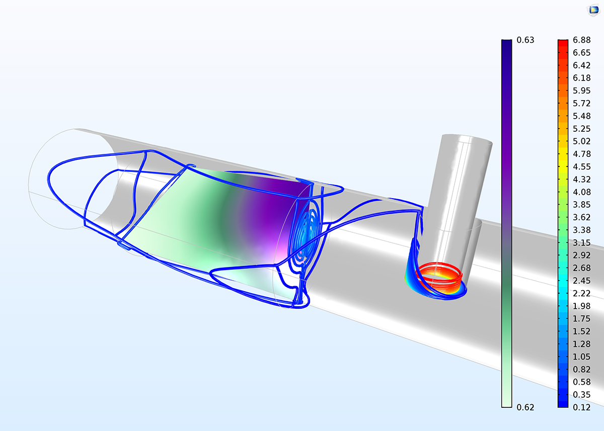 A fracture surface model, created with COMSOL Multiphysics version 5.3.