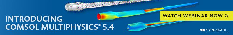 Banner Advertising COMSOL Multiphysics 5.4 Webinar