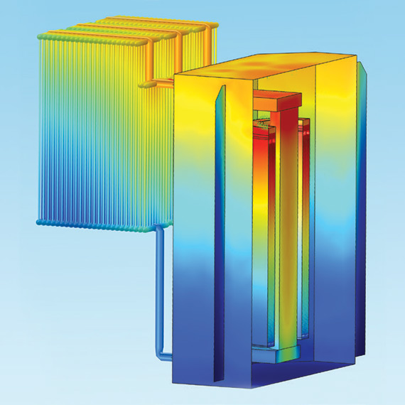 The thermo–fluid dynamics simulation of the new design