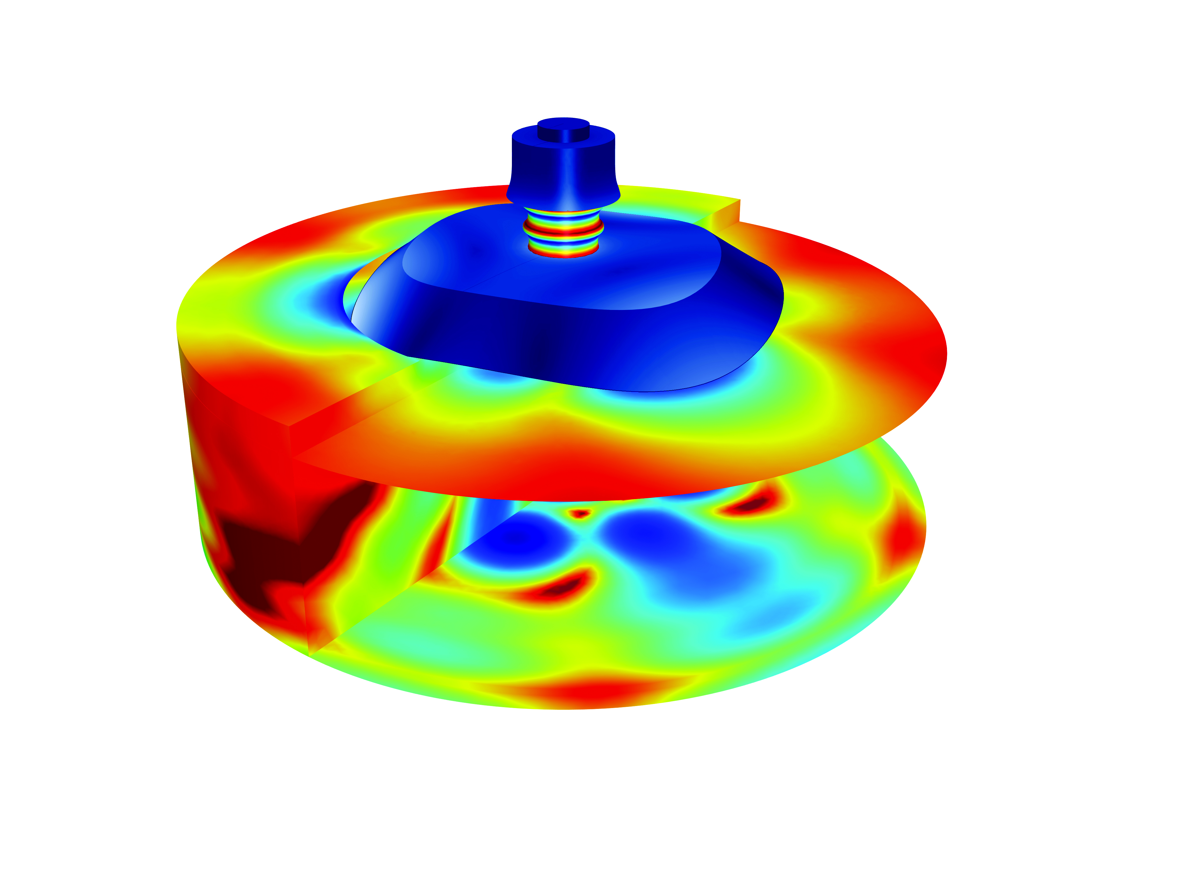 Tonpilz modeled with COMSOL Multiphysics