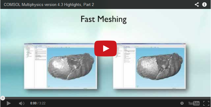 Fast meshing video