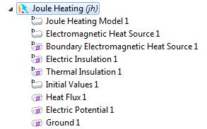 Before sorting in COMSOL Multiphysics Version 4.3