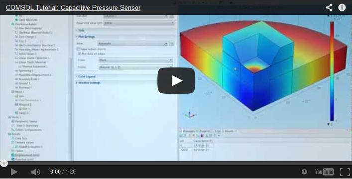 Capacitive pressure sensor video