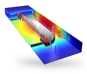 Chemical Engineering Training: Electroplating modeled in the COMSOL Multiphysics Electrodeposition Module