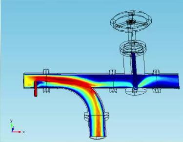 Gate Valve simulation, Fluid Flow in COMSOL Multiphysics